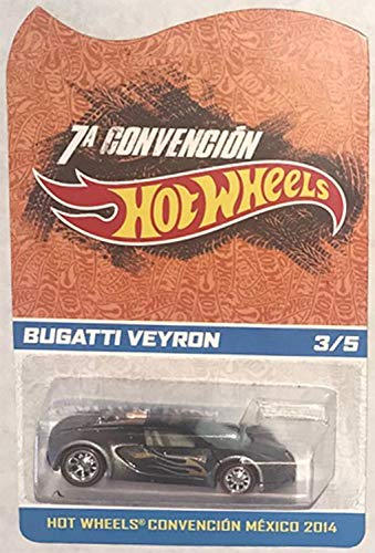 Hot Wheels 2014 Mexico Convention Bugatti Veyron Very Rare Limited Edition 1:64 Scale Collectible Die Cast Car #5 of Only 5 Made Worldwide!!!
