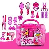Faironly Kinder Beauty Salon Toys Beauty Case mit Haartrockner, Kamm, Parfüm, Flasche, Lippenstift, für Mädchen -