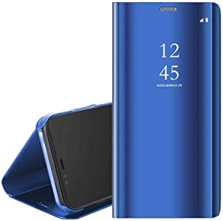 Full Cover standing Mirror For Huawei Y7P - Blue