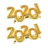 TOYANDONA 2 pz 2020 Occhiali da Vista Numero d'oro Occhiali novità Occhiali per 2020 Occhiali Divertenti Foto Prop Capodanno Decorazioni per Feste