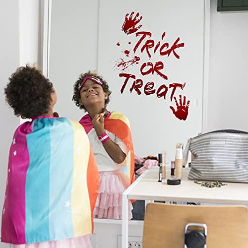 SoeHong 6 pegatinas de ventana para decoración de Halloween, pegatinas para ventanas de Halloween, pegatinas de sangre en 3D, adhesivo Skelton para decoraciones de Halloween