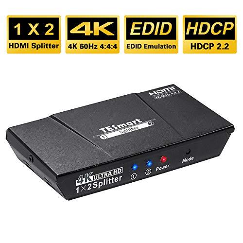 TESmart 1x2 HDMI Splitter 4K HDMI Powered 1 Entradas 2