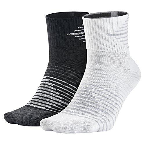 Nike Herren Dri-Fit Lightweight Socken, 2er Pack, Blck/Anthcte/Whte/Drk Grey, L