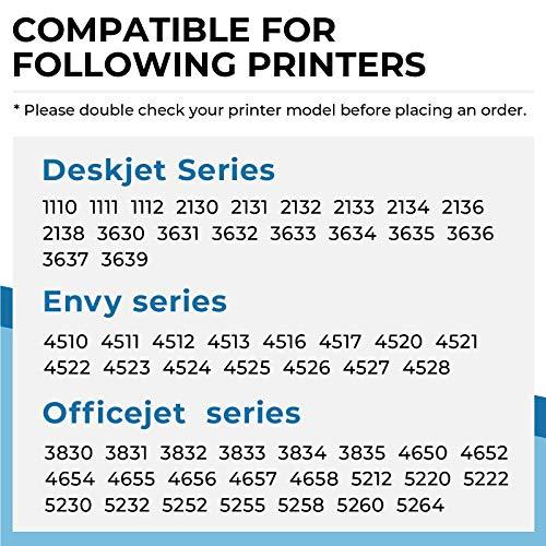 Penguin-Cartucho de Tinta Remanufacturado para HP 302xl 302 XL Compatible con Deskjet 1110 1111 2130 3630 3639 Envy 4510 4520 4525 4528 Officejet 3830 4650 5252 5260 5264 Impresora (1 Negro, 1 Color)