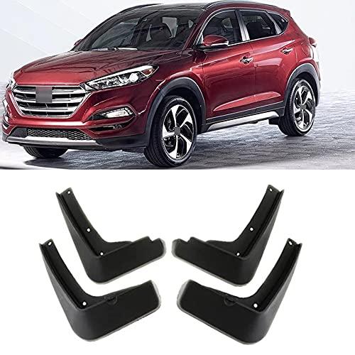 SXFYZCY Guardabarros Delantero y Trasero de ABS Negro para Coche, Guardabarros, Accesorios Protectores para Hyundai Tucson 2016-2018 2017, 4 unids/Set
