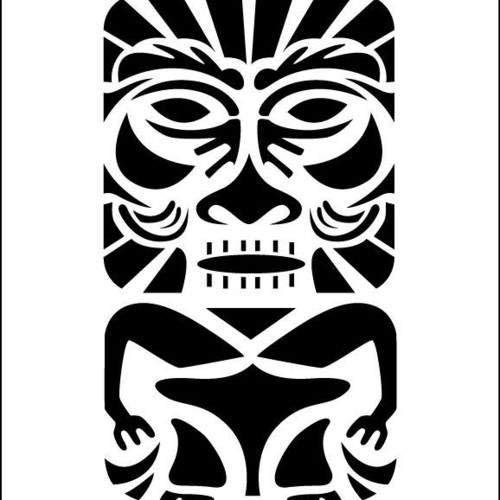 Pegatina Promotion Tiki Figur Maori Typ 3 20 cm Aufkleber Sticker Autoaufkleber Wandtattoo Surf Kite Surfen Wassersport Fun Sea