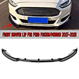 MotorFansClub 3pcs Front Bumper Lip Splitter fit for compatible with Ford Fusion Mondeo 2017 2018 Trim Protection Splitter Spoiler, Black