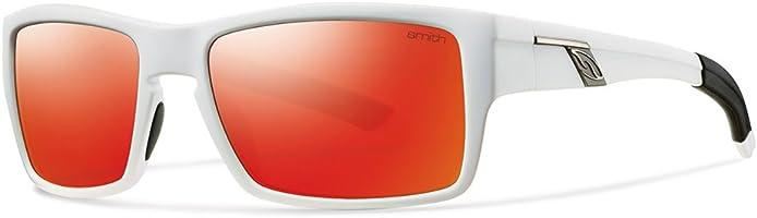 نظارة شمس بعدسات مستطيلة برتقالي للجنسين من سميث - ابيض