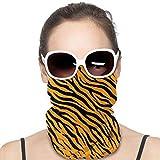 Tiger Stripes Patriotic Premium Versatile Multifunction Headwear Neck Gaiter Balaclava Helmet Liner Riding Face Cover for Kids Women Men Outdoors UV Protection