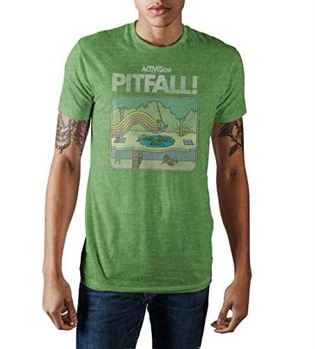 Activision Pitfall 2600 Art T-shirt, Green Heather, S to XXL