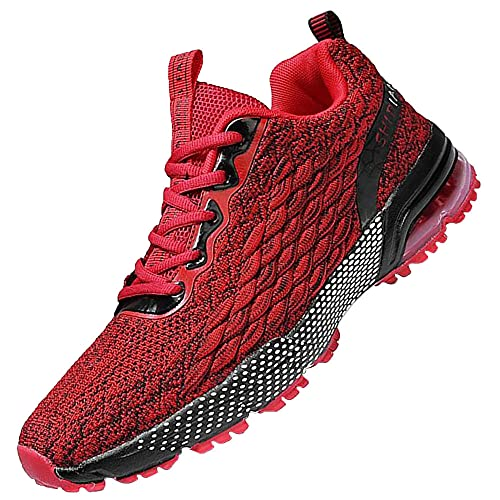 Men's Walking Shoes Breathable Athletic Running,Sport Running Athletic Tennis Walking Shoes,Red_46