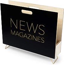 Balvi Revistero News Color Negro para revistas, catálogos y