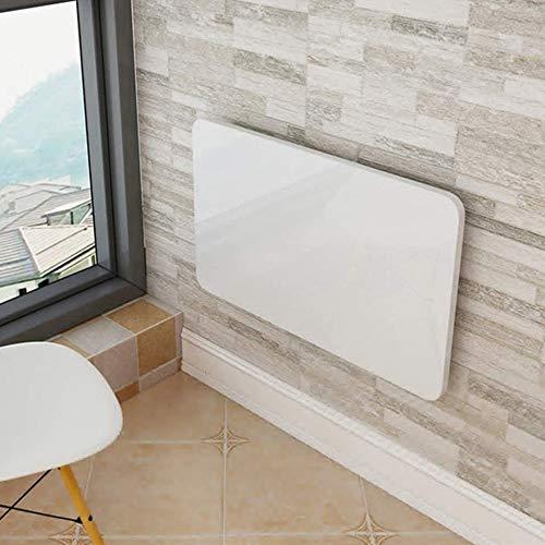 SANJIANG Mesa Plegable De Pared Mesa De Comedor De Cocina Escritorio De Computadora Mesa De Estudio Escritorio Convertible Plegable Space Saver,White-60x40/24x16in