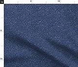 Spoonflower Stoff – Polka Dots blau lila gedruckt auf