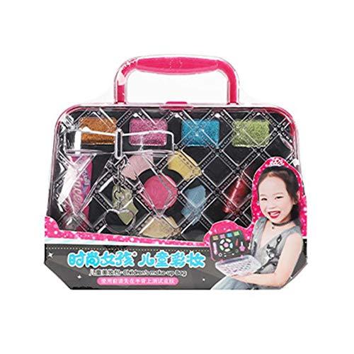 Makeup Set für Kinder, Waschbar Kinderschminke Set, Rollenspiel Schminkset Spielzeug Schminksachen...