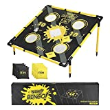 A11N Portable 2 in 1 Cornhole Game Set, Bean Bag Toss & Golf Cornhole Chipping Game - with 8 Bean Bags & Travel Carry Bag for All Ages