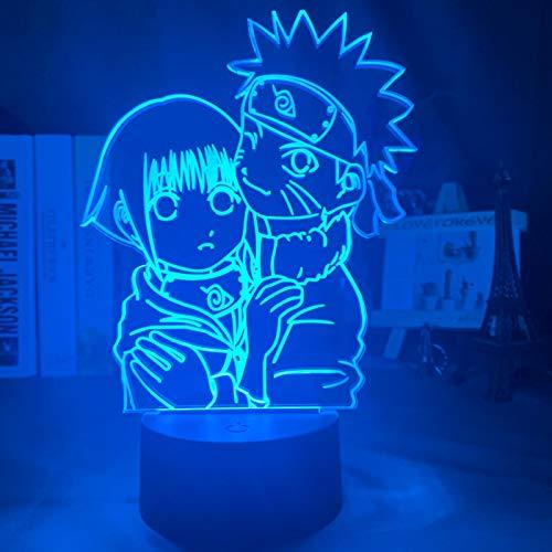 Luz de noche Ilusión óptica Lámpara 3D 7 colores Cambio de control táctil Luz de mesa LED Lámpara para dormir Decoración del hogar Cumpleaños/Navidad/Regalos de fiesta para niños (396)