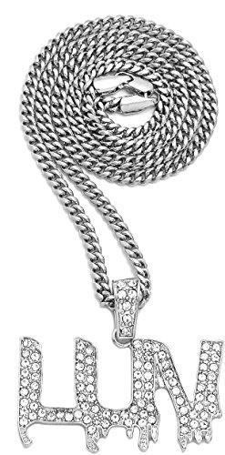 GWOOD Collar con colgante LUV con cadena de 60,96 cm de largo....