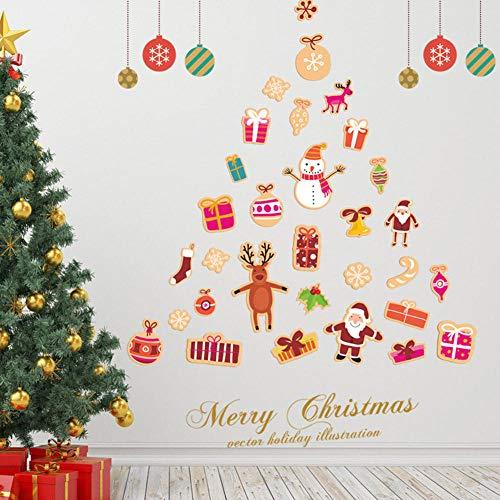 Etiqueta De La Pared De Navidadnueva Etiqueta De La Pared_2018 Navidad Decoración De La Pared Tienda Escaparate
