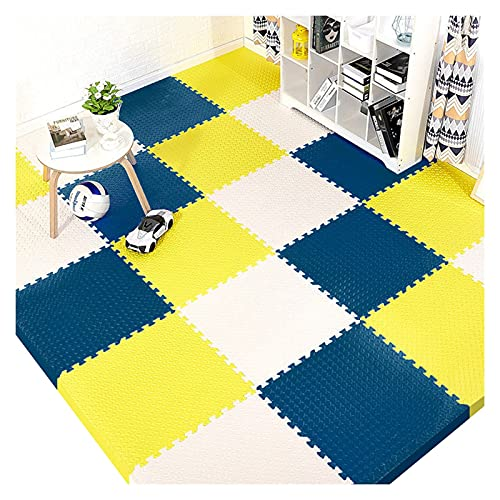 WJDY Alfombra Puzzle Gateo 60x60cm Esterilla Puzzle para Suelos Grueso Anti-caída y Anti-Rayado Inodoro (Color : D, Size : 6 Pieces)