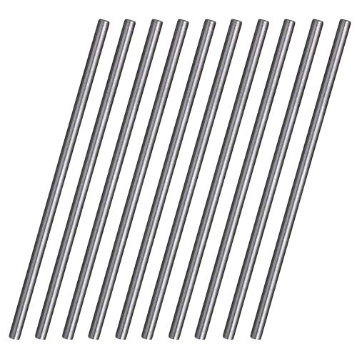 CNBTR Barras de torno de acero HSS de alta velocidad redondas, 100 mm x 3,5 mm, 10 unidades