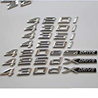 OceanAutos BMW F32 F33 F82 F83 435d 425d 420d 430d 435i 420i 430i 428i 440i 418d、クローム文字トランクエンブレムエンブレムバッジ