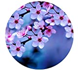 Popular Pink Cherry Blossoms Designed Comfort Cloth Cover Round Mouse Pad 7.87' x7.87'