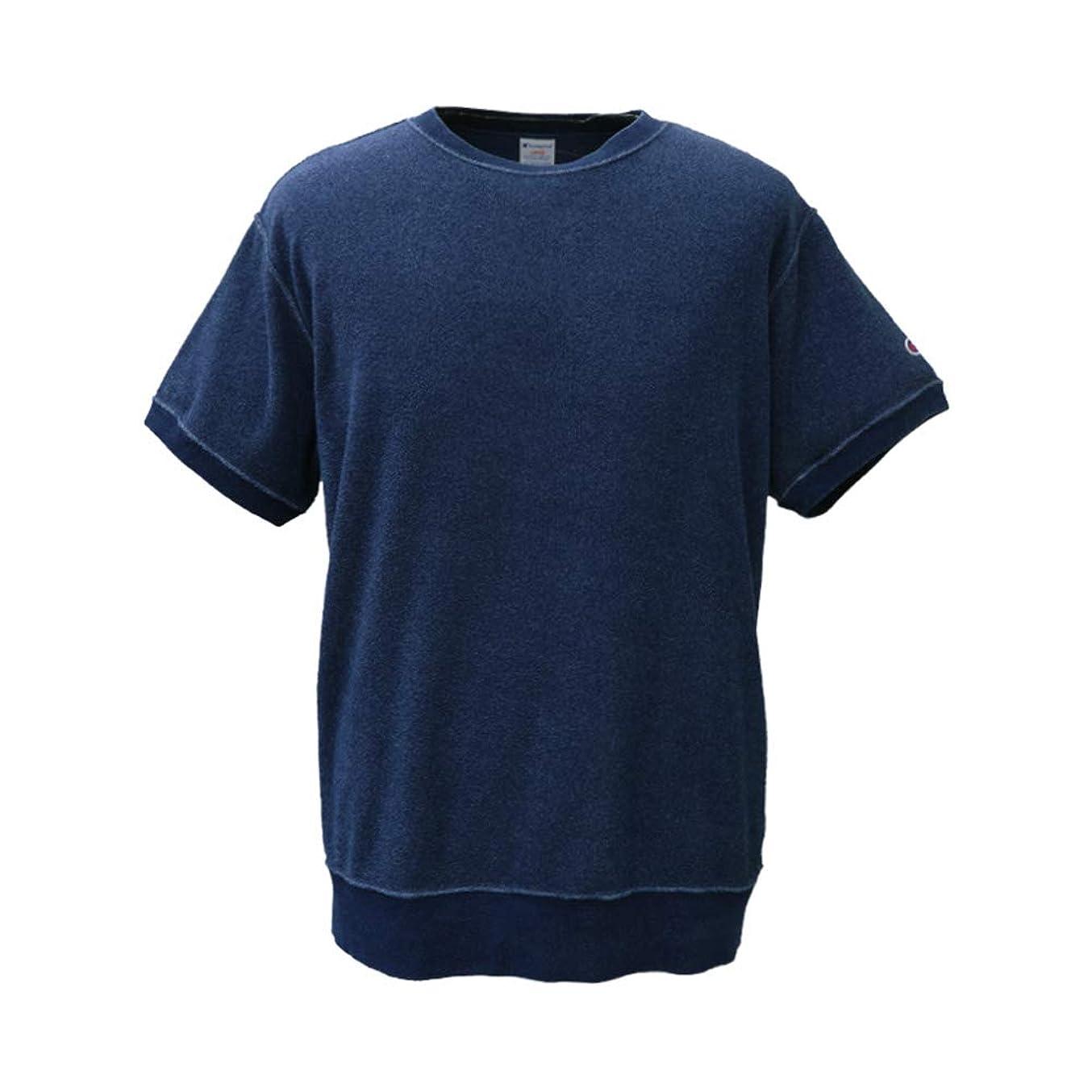 インレイポインタ系統的チャンピオン Tシャツ メンズ 上 Champion 半袖 パイル地 タオル地 スウェット