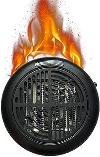 Calefactor Eléctrico Ventilador Calentador De Espacio Portátil De 900 W, para Oficina Y Hogar, con Viento Caliente Y Natural