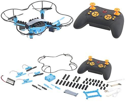 Simulus Drohne Bausatz: Quadrocopter-Bausatz, 38-teilig, 2,4-GHz-Fernbedienung, 3D-Flugmanöver (Minidrohne)