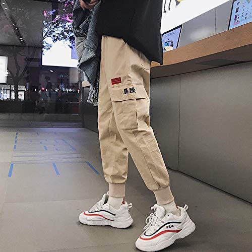 Pantalones Cargo De Camuflaje Deportivo Casual para Hombre Pantalones Ajustados De Marca Caliente Fuerzas Coreanas Hip Hop Moda Pantalones De Basculador Al Aire Libre Streetwear XXL Khaki01