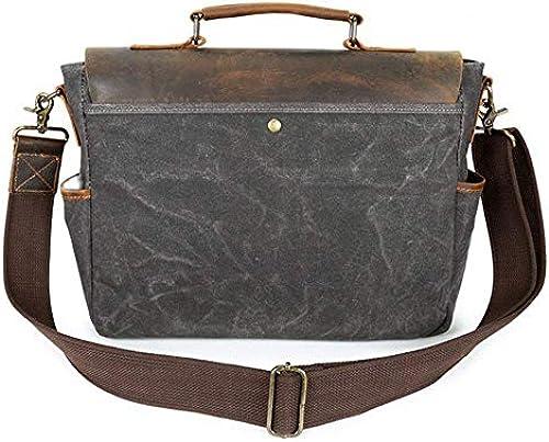 Briefcase Home Herren Umh etasche Canvas Tasche Retro Herren Tasche Tragbare Aktentasche Diagonal Tasche