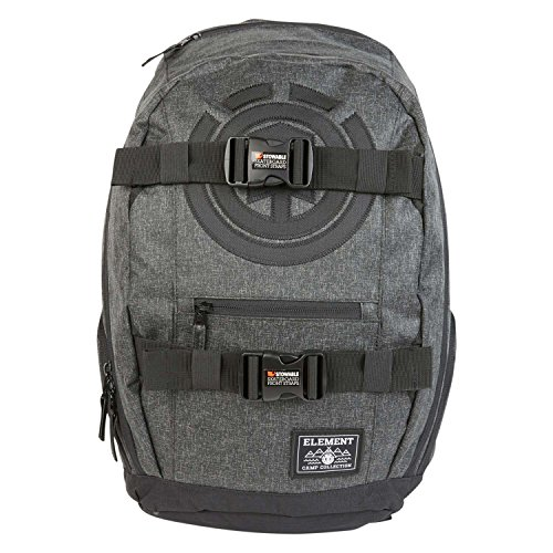 Element Men's Mohave Skate Backpack with Straps and Laptop Sleeve, black grid heather, ONE