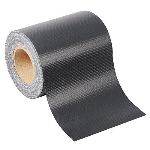 WOLTU® PVC Sichtschutzstreifen 450g/m² Anthrazit 70m mit 50x Befestigungschipse Zaunfolie Doppelstabmattenzaun Sichtschutz Windschutz