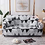 WXQY Fundas de celosía geométrica Funda de sofá elástica Funda de sofá de protección para Mascotas Funda de sofá con Esquina en Forma de L Funda de sofá con Todo Incluido A25 1 Plaza