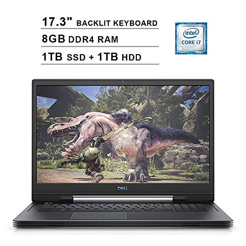 2020 Dell G7 7790 17.3 Inch FHD 1080P Gaming Laptop (Intel 6-Core i7-9750H up to 4.50 GHz, 8GB DDR4 RAM, 1TB M.2 SSD (Boot) + 1TB HDD, NVIDIA GTX 1660 Ti 6GB, Backlit KB, Windows 10) (Gray) (Renewed)