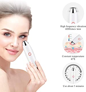 Electric Eye Massager Pen, Tovendor Ionic Eye Facial Massager Wand 45℃ Heated, Dark Circle Remover, Eliminate Eye Bags & Puffy Eye, USB Rechargeable