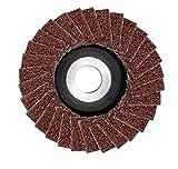 Proxxon 28591 28591-Levigatrice lamellare (Diametro 50 mm, K 240, Foro 10 mm, per ghisa malleabile, Acciaio, Legno, plastica, per smerigliatrice angolare LHW/A)