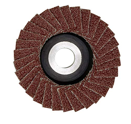 Proxxon Lamellenschleifer (Schleifscheibe ø 50 mm, K 240, Lochung 10 mm, für Temperguss, Grauguss, Stahl, Holz, Kunststoff, für Winkelschleifer LHW/A) 28591