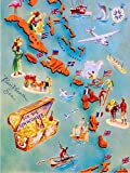 ABLERTRADE 20,3 x 30,5 cm Karte der Karibikinseln, Bahamas