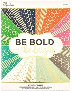 Be Bold Be Bright 8.5x11 Cardstock Scrapbooking Paper Pack 80 Foiled Sheets