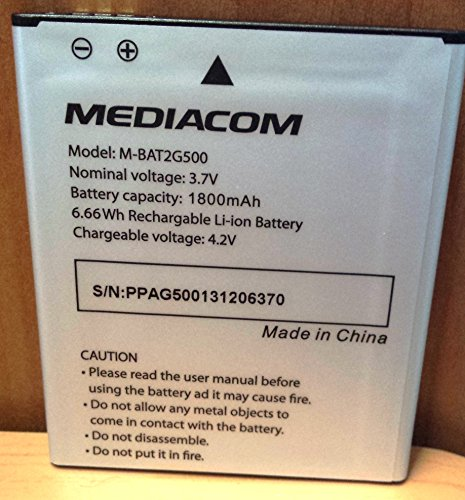 MEDIACOM Batteria per PhonePad Duo G500 3.7 V 1800 mAh 2 Pz