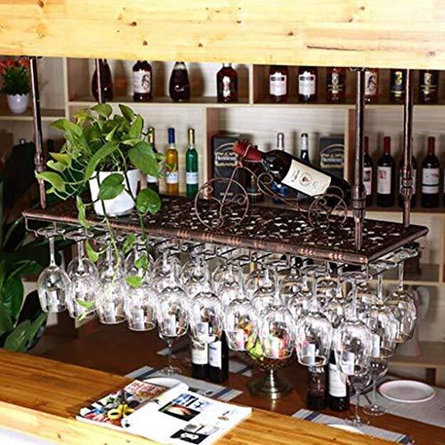 Élément de meuble Casier à vin Porte-bouteille de vin rouge Porte-gobelet en fer européen Porte-gobelet en verre à vin rouge Cadre en verre inversé Porte-bouteille suspendu Support de rangement de