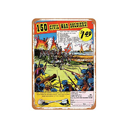 150 Civil War Soldiers Comic Book Ad Vintage Aluminum Metal Signs Tin Plaques Wall Poster For Garage Man Cave Cafee Bar Pub Club Shop Outdoor Home Decoration 12