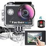 Yarber AR02 Ultra 4K/30fps 20MP Action Cam WiFi Action Kamera mit 2' Touchscreen, Bildstabilisierung, 40M Unterwasserkamera mit Fernbedienung,170°Weitwinkel, 2 wiederaufladbare Akku,viel Zubehör