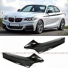 Pair Of Real Carbon Fiber Front Bumper Splitter Lip Kit for 2013-2017 BMW F22 M235i M240i Coupe