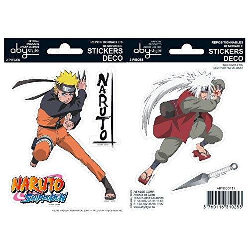 ABYstyle - NARUTO SHIPPUDEN - Stickers - Naruto / Jiraiya (16x11cm)