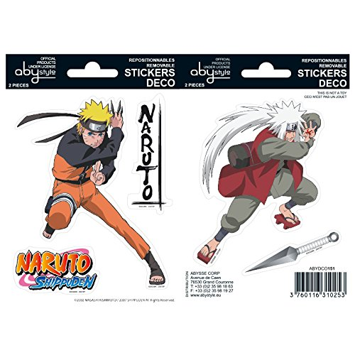 ABYstyle NARUTO SHIPPUDEN - Adesivi Naruto / Jiraiya 16 x 11 cm