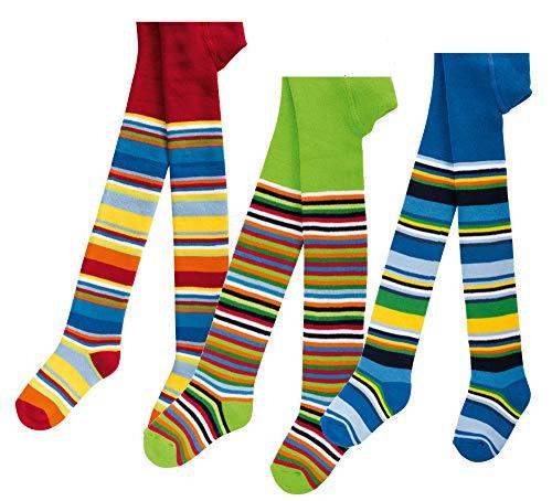 socksPur SOCKS PUR THERMO STRUMPFHOSE BABY und KIDS 1 STÜCK (110/116, Gute-Laune-Ringel: grün)