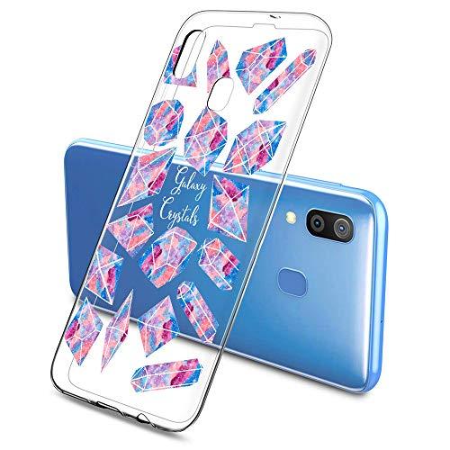 Oihxse Mode Motif de Diamant Case Compatible pour Samsung Galaxy J6 Prime/J6 Plus Coque Silicone Ultra Mince Transparent Souple Bumper Crystal Clair Anti-Rayures Antichoc Protection Cover,Diamant 9